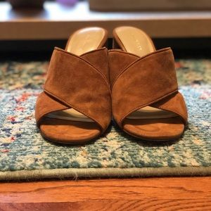 Ann Taylor Jeanette Suede Heeled Sandal